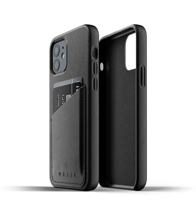 Mujjo Full Leather Wallet Case for iPhone 12/ 12 Pro