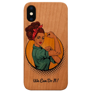 Limited77 Wooden 'We Can Do It' iPhone Case