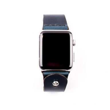 Form Function Form Navy Chromexcel Button-Stud Apple Watch Band 42/ 44 mm