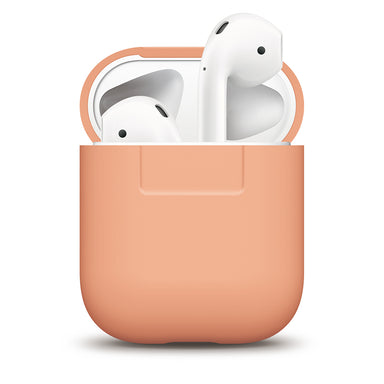 Elago 1 & 2 AirPods Silicone Case - Peach