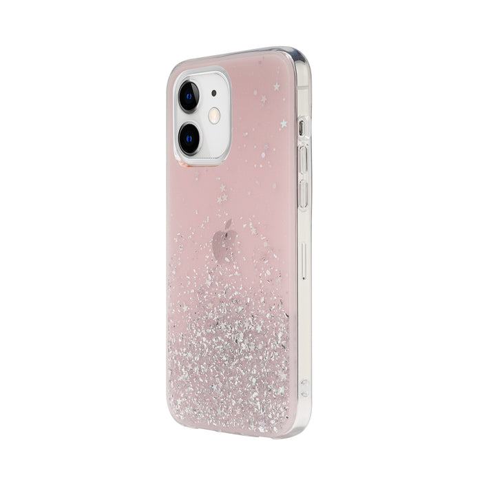SwitchEasy Starfield (Transparent Rose) iPhone 12 Mini, 12/ 12 Pro, 12 Pro Max Case