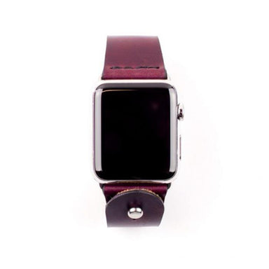 Form Function Form Burgundy Button-Stud Apple Watch Band 38/ 40 mm