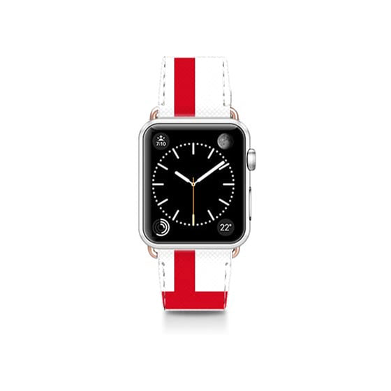 World Cup: Casetify Saffiano Leather Apple Watch Band England - Cult of Mac Watch Store