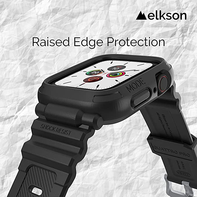 Elkson Quattro PRO Series Bumper case with Band 44mm - Black