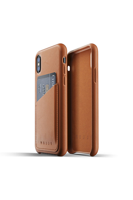 Mujjo Full Leather Wallet Case for iPhone XR, XS, XS Max