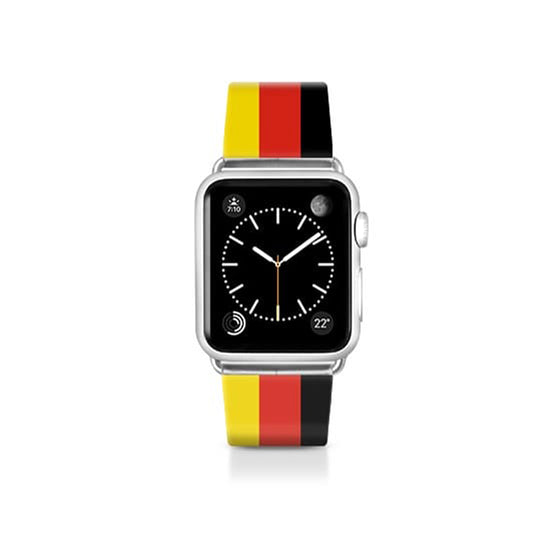 World Cup: Casetify Saffiano Leather Apple Watch Band Germany - Cult of Mac Watch Store