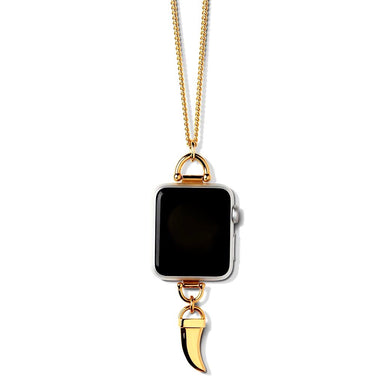 Bucardo Charm Apple Watch Necklace in Horn Gold