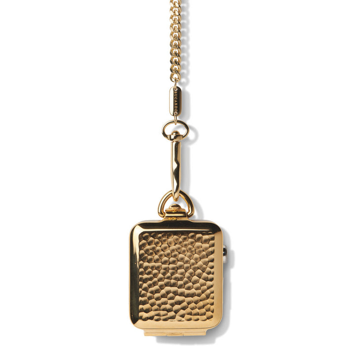 Bucardo Gold Hammered Pocket Watch - Cult of Mac Watch Store