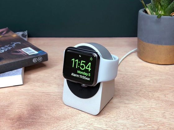 Proper Apple Watch Stand in Silver & Black