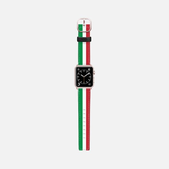 World Cup: Casetify Saffiano Leather Apple Watch Band Italy Stripes