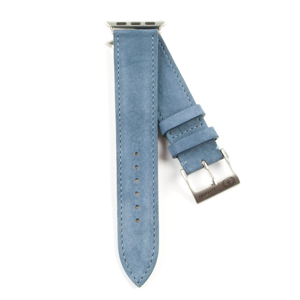 Clessant Denim Blue Nubuck Apple Watch Strap - Cult of Mac Watch Store