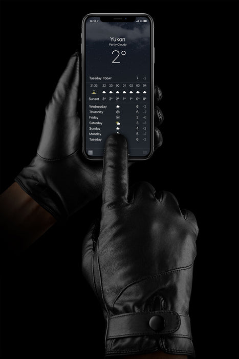 Mujjo Leather Touchscreen Gloves-Black