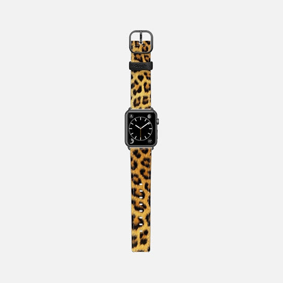 Casetify Leopard Print Leather Apple Watch Band