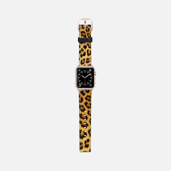 Casetify Saffiano Leather Apple Watch Band Leopard Print - Cult of Mac Watch Store
