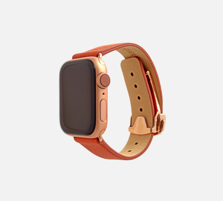 Monowear Depolyant Reserve Leather Apple Watch Band