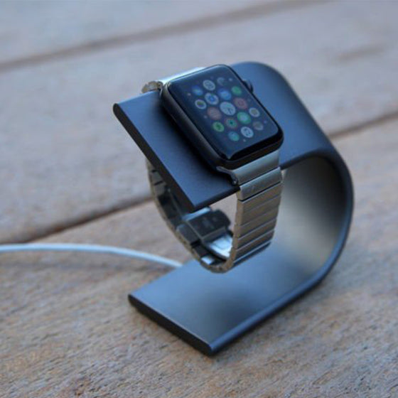 Nomad Stand for Apple Watch in Space Gray - Cult of Mac Watch Store
