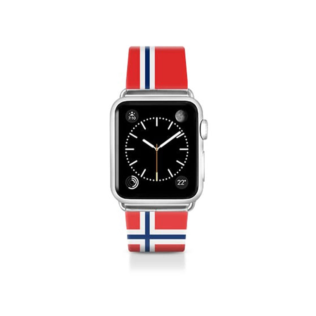 World Cup: Casetify Saffiano Leather Apple Watch Band Norway - Cult of Mac Watch Store