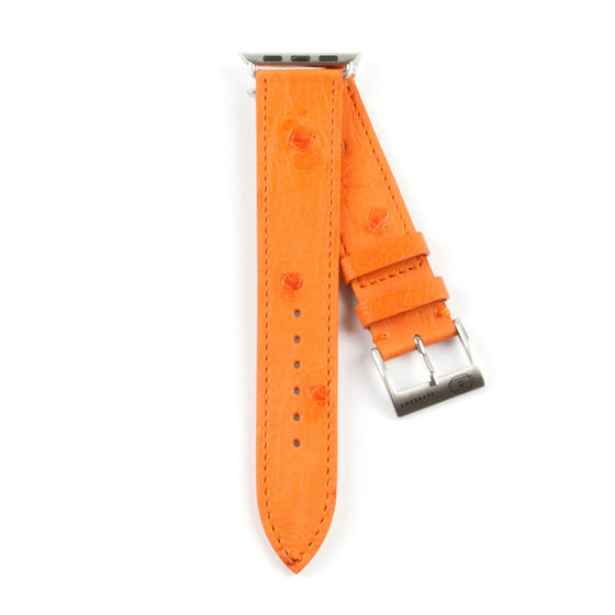 Clessant Orange Ostrich Apple Watch Band