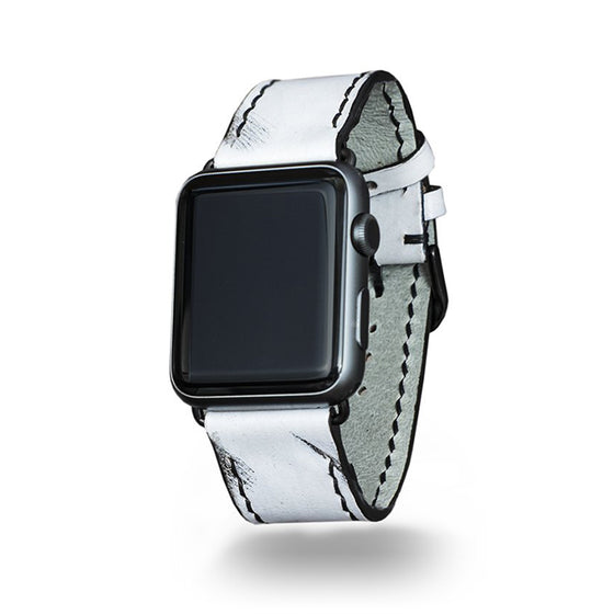 Strapley Leather Apple Watch Band in Off-White