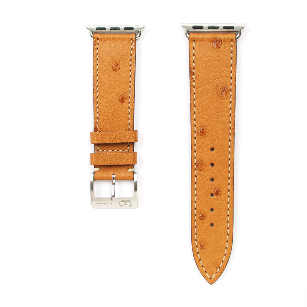 Clessant Gold Ostrich Apple Watch Strap - Cult of Mac Watch Store