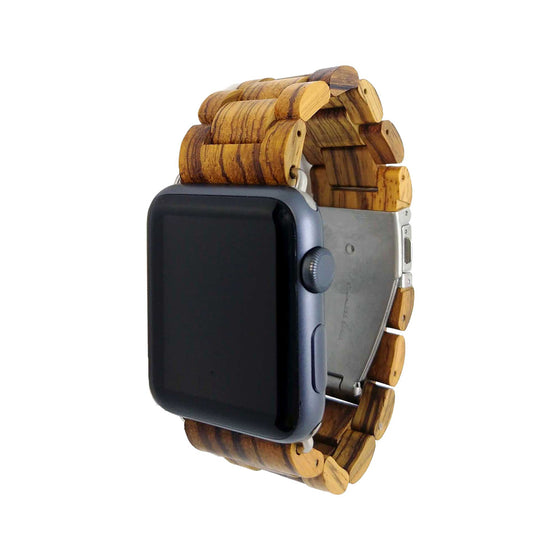 Ottm Gabonese Zebrawood Apple Watch Band - Cult of Mac Watch Store