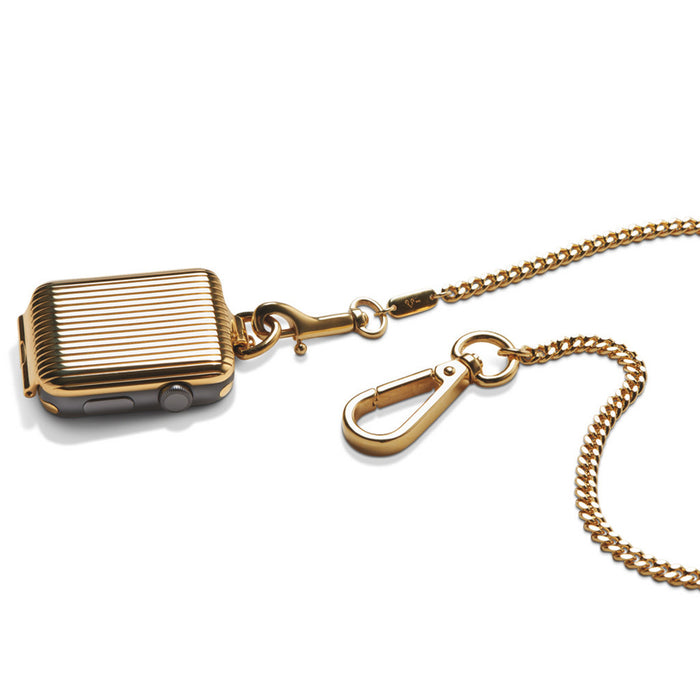 Bucardo Gold Pinstripe Pocket Watch - Cult of Mac Watch Store