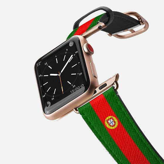 World Cup: Casetify Saffiano Leather Apple Watch Band Portugal Flag