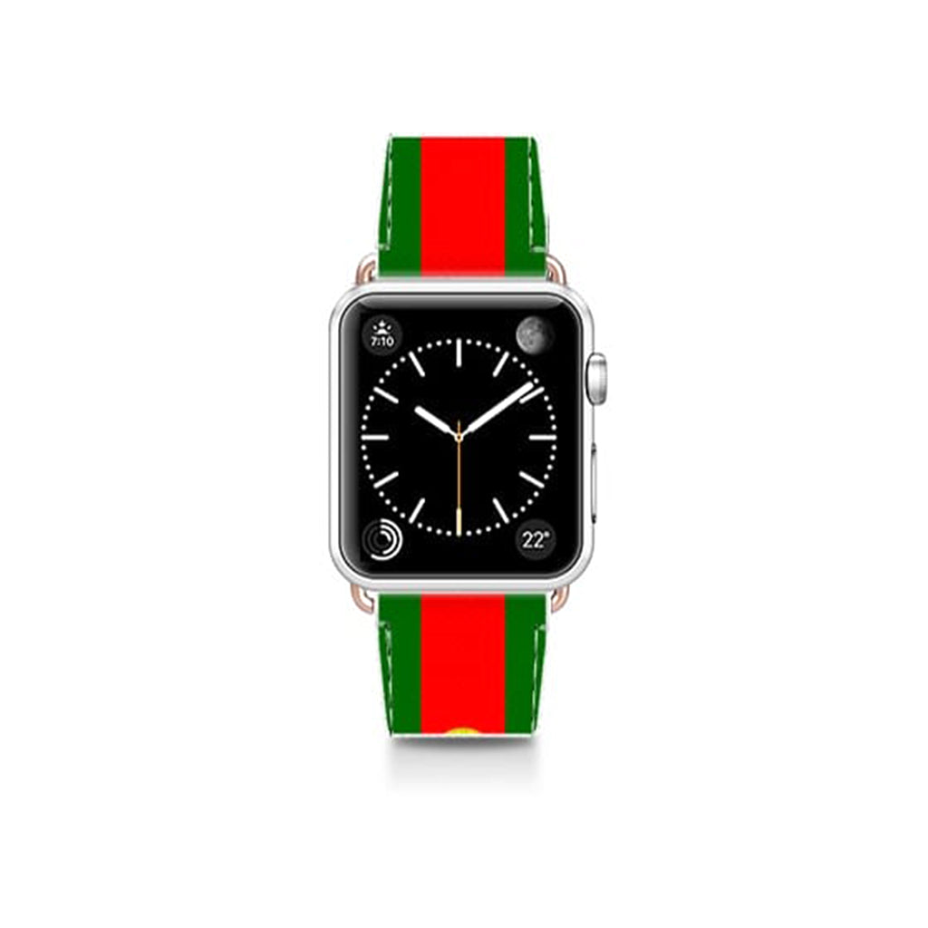 World Cup: Casetify Saffiano Leather Apple Watch Band Portugal - Cult of Mac Watch Store