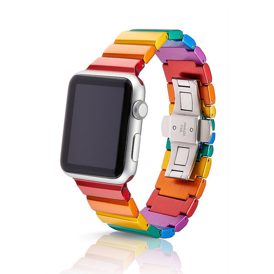 Juuk Ligero Rainbow Apple Watch Band  - Cult of Mac Watch Store
