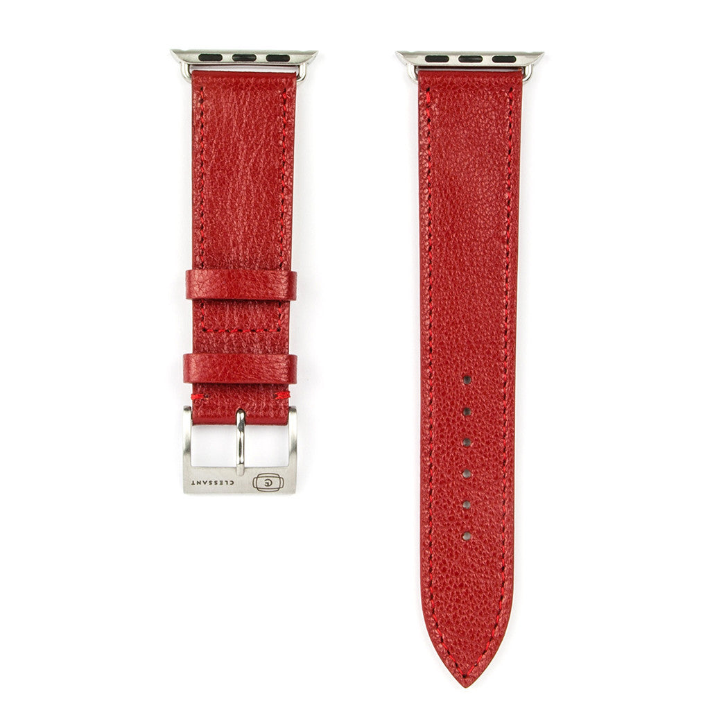 Clessant Red Madras Apple Watch Strap - Cult of Mac Watch Store