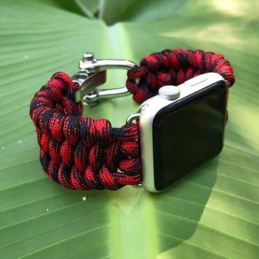 Survival Straps Fishtail Paracord Apple Watch Strap - Cult of Mac Watch Store
