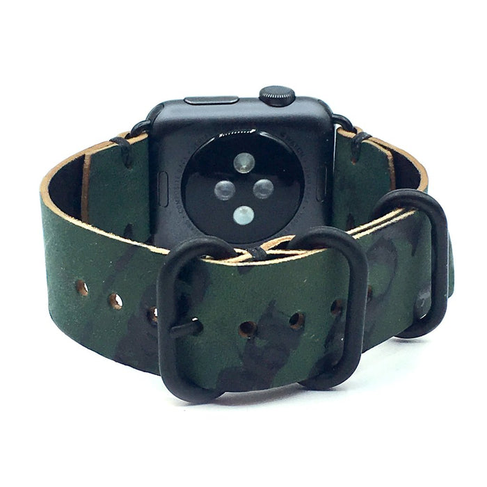 E3 Apple Watch Strap in Reverse Shell Cordovan Leather - Cult of Mac Watch Store