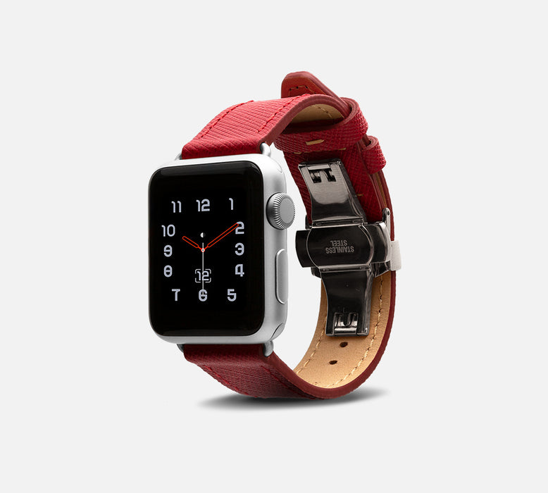 Monowear Saffiano Leather Apple Watch Band