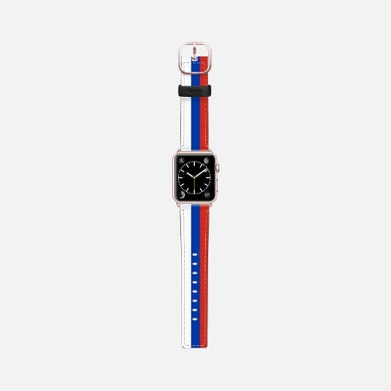World Cup: Casetify Saffiano Leather Apple Watch Band Russia - Cult of Mac Watch Store