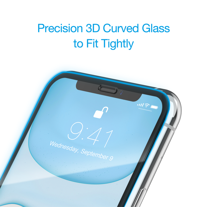 Just Mobile Xkin 3D Curved Full-Coverage Glass iPhone 11, 11 Pro, 11 Pro Max
