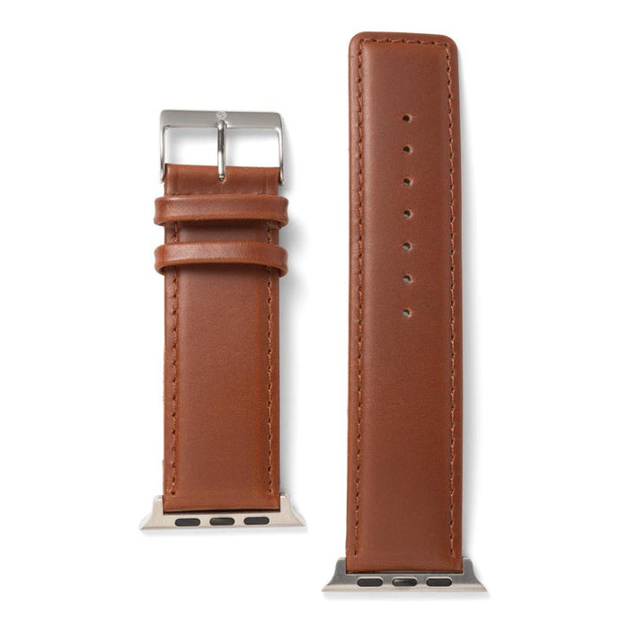 Speidel Square Tip Oiled Leather Band For Apple Watch