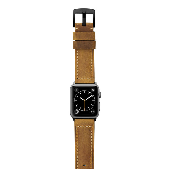 Strapa Confidens Tan Apple Watch Band - Cult of Mac Watch Store
