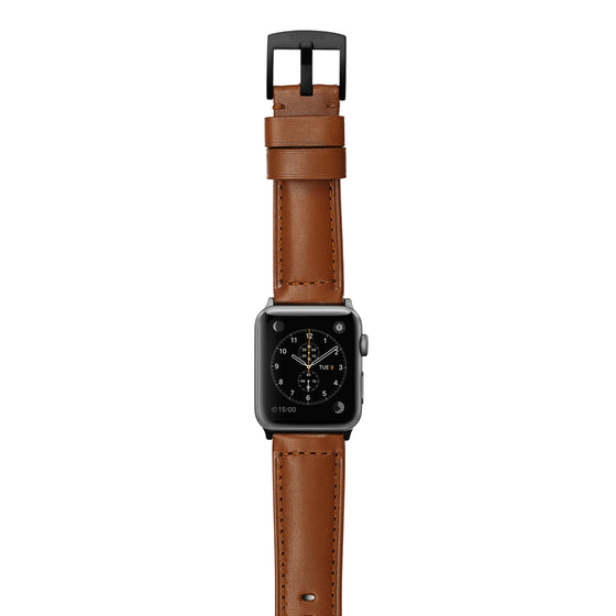 Strapa Ingenium Coffee Apple Watch Band - Cult of Mac Watch Store