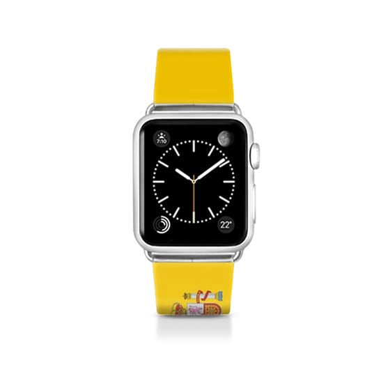 World Cup: Casetify Saffiano Leather Apple Watch Band Spain - Cult of Mac Watch Store