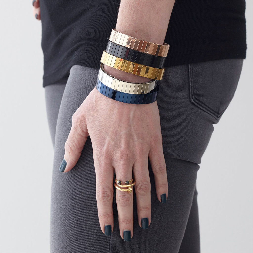 Rilee & Lo Satin Navy Stacking Bracelet