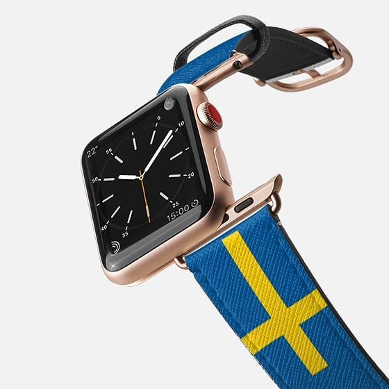 World Cup: Casetify Saffiano Leather Apple Watch Band Sweden - Cult of Mac Watch Store