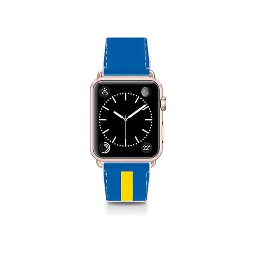 World Cup: Casetify Saffiano Leather Apple Watch Band Sweden Flag