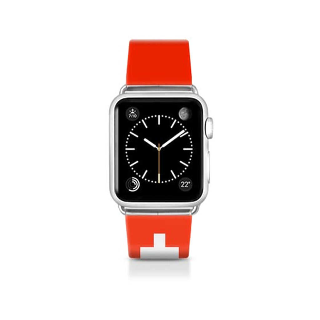 World Cup: Casetify Saffiano Leather Apple Watch Band Switzerland - Cult of Mac Watch Store