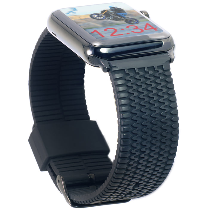 Carterjett Tire Tread Sport Apple Watch Band in Black - Cult of Mac Watch Store