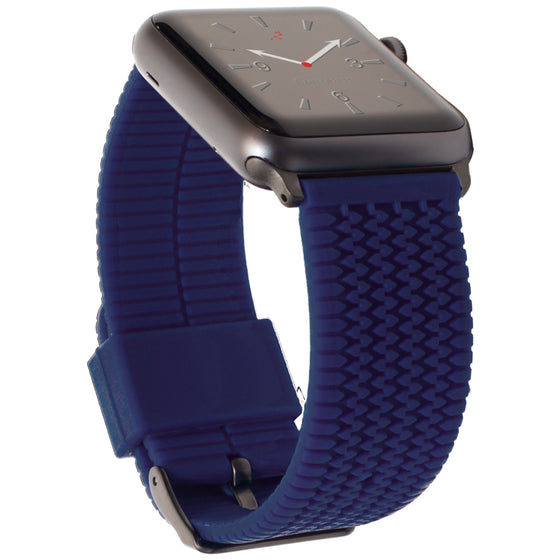 Carterjett Tire Tread Sport Apple Watch Band in Blue - Cult of Mac Watch Store