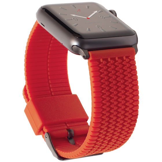 Carterjett Tire Tread Sport Apple Watch Band in Orange