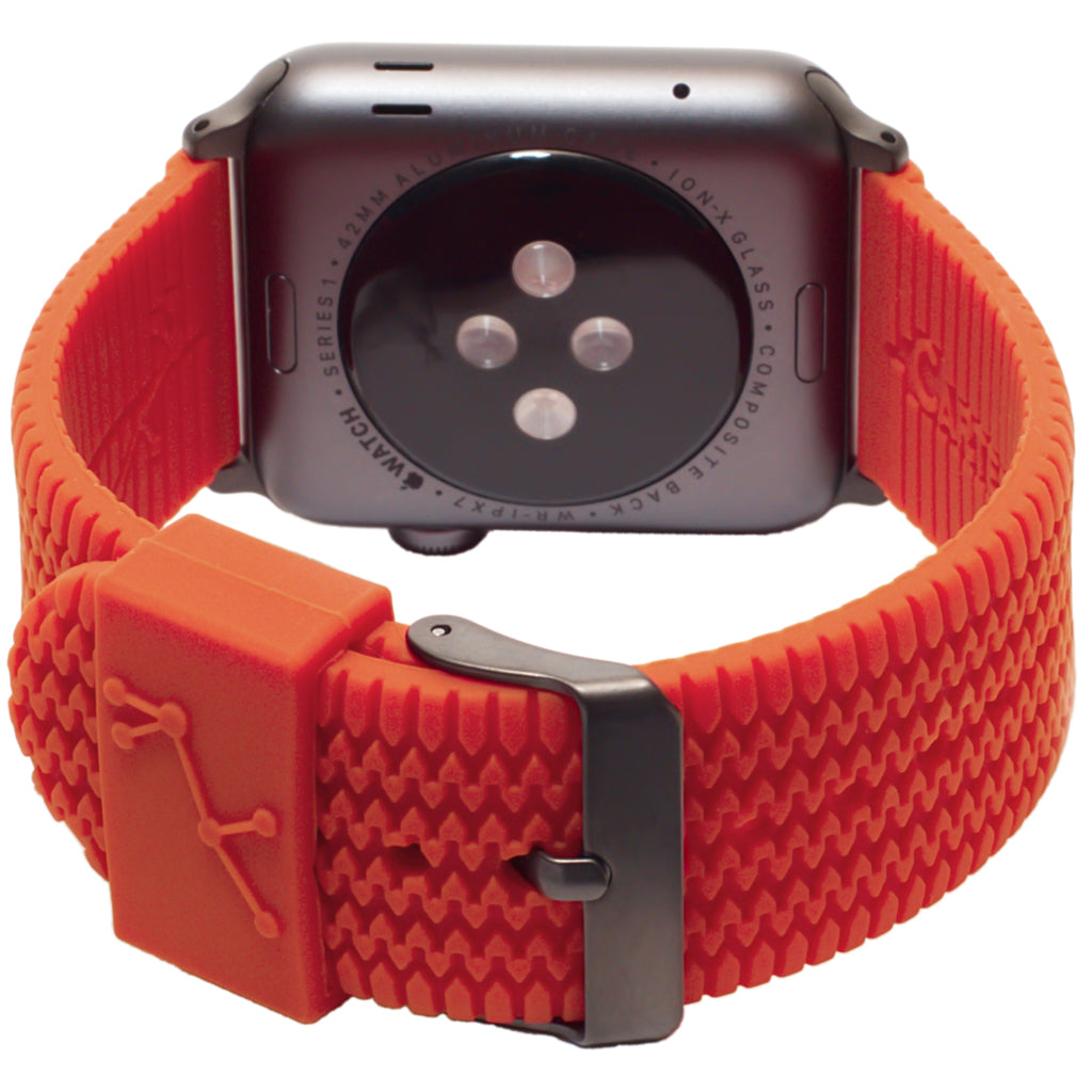 Carterjett Tire Tread Sport Apple Watch Band in Orange - Cult of Mac Watch Store