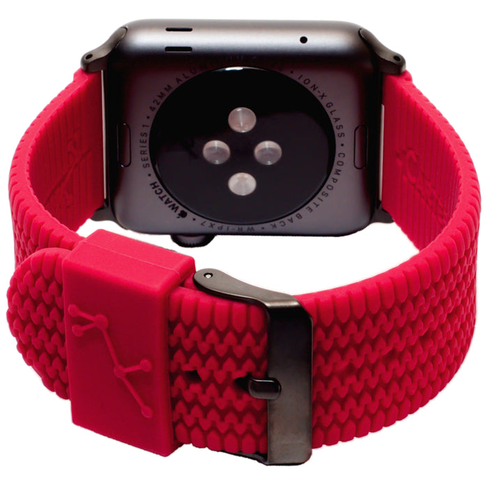 Carterjett Tire Tread Sport Apple Watch Band in Red - Cult of Mac Watch Store