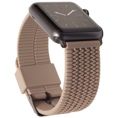 Carterjett Tire Tread Sport Apple Watch Band in Tan - Cult of Mac Watch Store