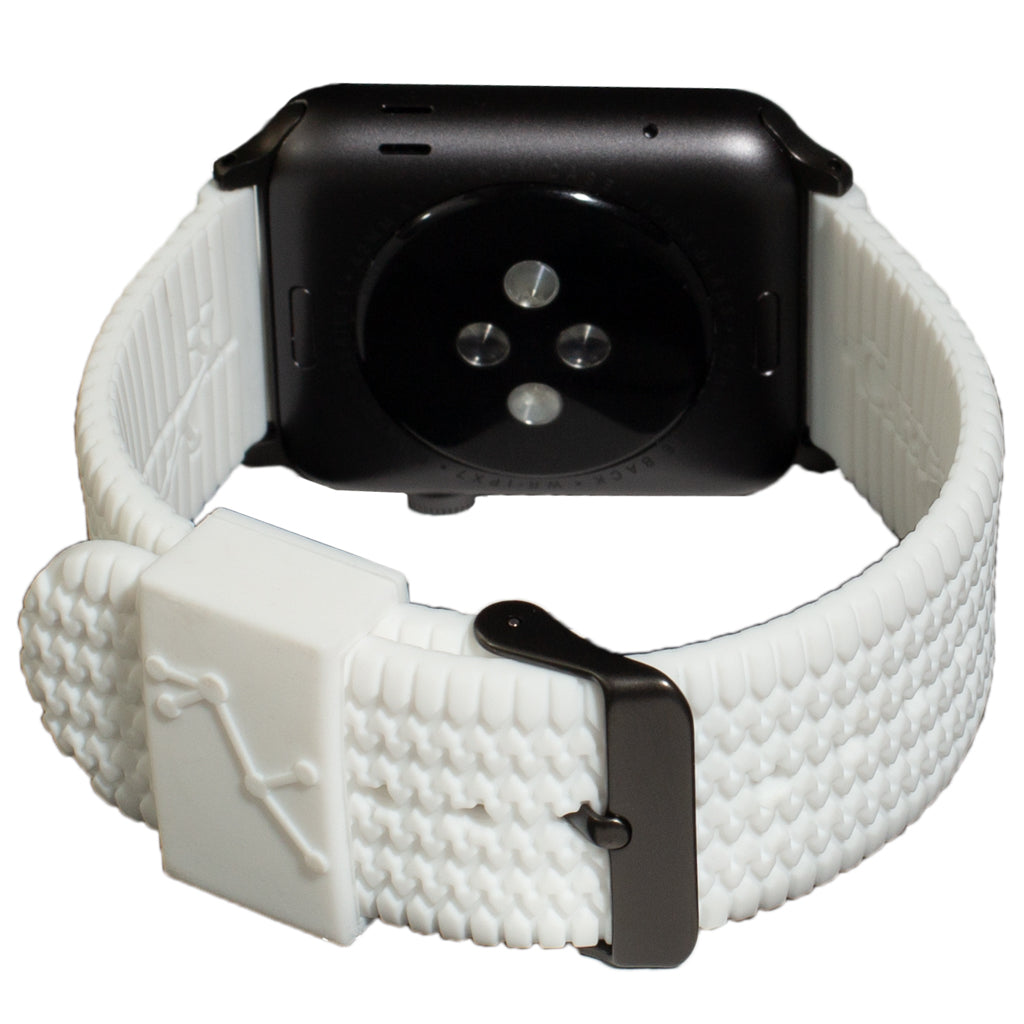 Carterjett Tire Tread Sport Apple Watch Band in White - Cult of Mac Watch Store